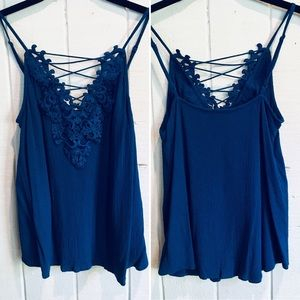 Express Embroidered Top 💙